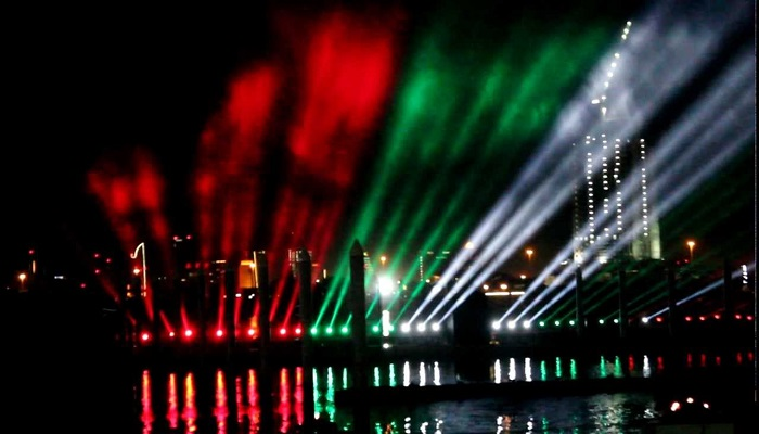 UAE National Day Celebration at Night