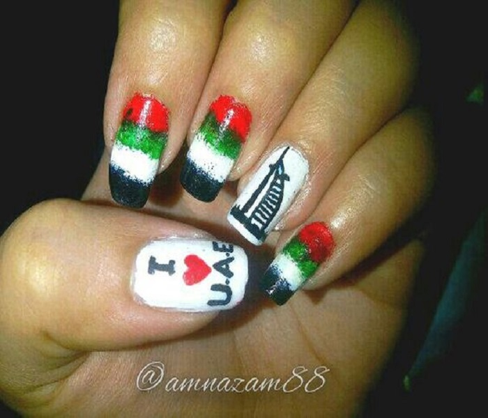 Flag Nail Art Uae