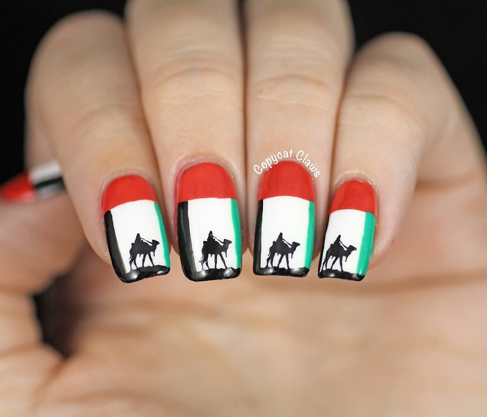 Nail Art Army Camouflage Militaire additionally 25 New Years Nail Art Designs 2017 in addition 29 Uae National Day Nail Art Ideas For Girls Latest additionally Nail Art 2706 besides Chinese New Year Nail Art. on 15