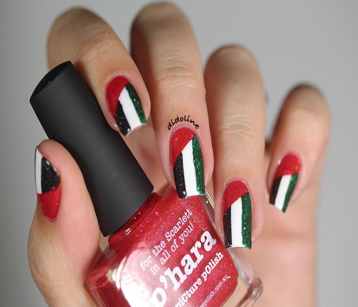 UAE National Day Nail Design 2017
