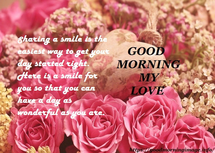 Good Morning Love Images With Roses