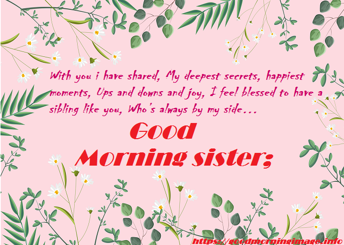 Good Morning Sister Images 2021